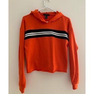F21 Striped Crop Sweatshirt